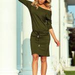 13-104 Sporty dress – viscose KHAKI